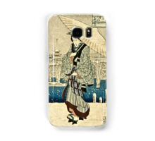 Ando Hiroshige - Eight Views Of Edo, Evening Snow At Asakusa, Date Unknown  Samsung Galaxy Case/Skin