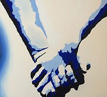 Holding Hands - Blue by katehughesy