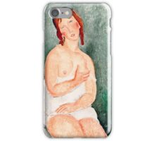 Amedeo Modigliani - Young Woman in a Shirt, 1918 (1918)  iPhone Case/Skin