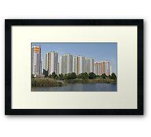 Modern highrise buildings Framed Print