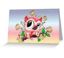 A Pretty Pink Owl Greeting Card