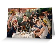 Renoir Auguste - Luncheon of the Boating Party (1880 1881)  Greeting Card