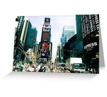Take me there, Time Square Greeting Card