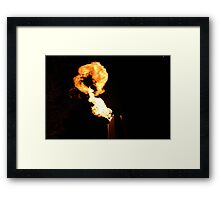 Crown casino - Melbourne fire Framed Print
