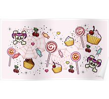 Rockabilly Cupcakes and Candy Poster