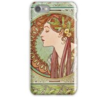 Alphonse Mucha - Laurel, 1901  iPhone Case/Skin
