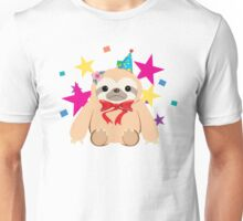 Bow Tie Party Sloth Unisex T-Shirt