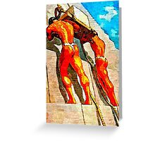Erecting the Pyramids (Original Sold - Limited Edition 2 of 50 available) Greeting Card