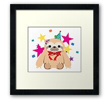 Bow Tie Party Sloth Framed Print