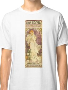 Alphonse Mucha - Lady Of The Camellias Classic T-Shirt