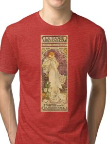 Alphonse Mucha - Lady Of The Camellias Tri-blend T-Shirt