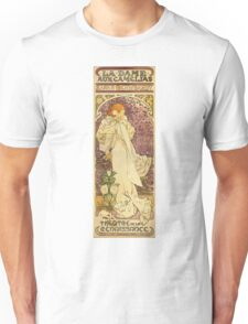 Alphonse Mucha - Lady Of The Camellias Unisex T-Shirt