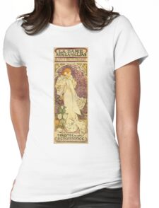 Alphonse Mucha - Lady Of The Camellias Womens Fitted T-Shirt