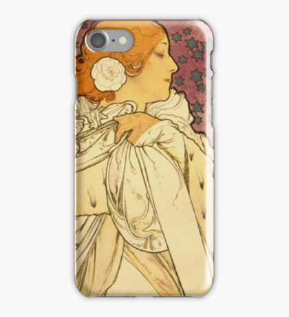 Alphonse Mucha - Lady Of The Camellias iPhone Case/Skin