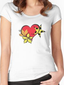 Love flower star Women's Fitted Scoop T-Shirt
