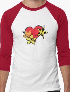 Love flower star Men's Baseball ¾ T-Shirt