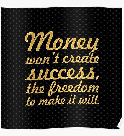 "Money won't create... ""Nelson Mandela"" Inspirational Quote (Square) Poster"