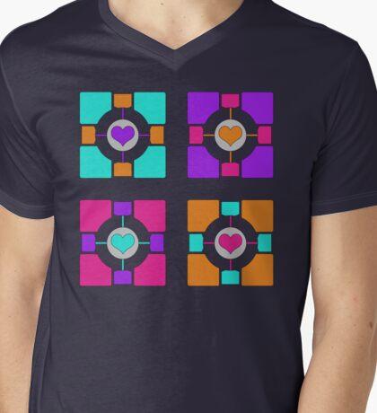 Companion Cubism Mens V-Neck T-Shirt