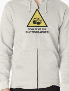 Beware Of The Photographer Zipped Hoodie