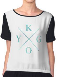 Kygo - Turquoise Color Chiffon Top