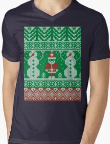 Merry Christmas and Happy New Year ornament.  Mens V-Neck T-Shirt