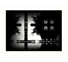 Black And White Cross Composition Art Print
