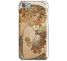Alphonse Mucha - Fruit 1897  iPhone Case/Skin