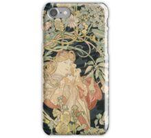 Alphonse Mucha - Eugene Samuel Grasset - Alphonse Mucha - Femme a La Marguerite1899  iPhone Case/Skin