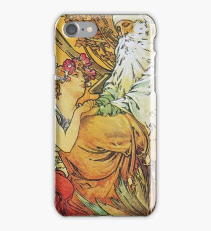 Alphonse Mucha - Chocolat Massonchocolat Mexicain Vieillesseold Age iPhone Case/Skin