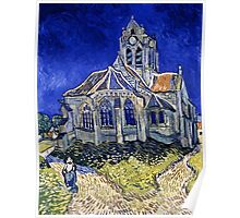 Vincent Van Gogh -  Church In Auvers Sur Oise, View From  Chevet 1890  Poster