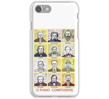 12 Piano Composer Portraits iPhone Case/Skin