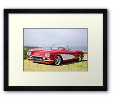 1958 Corvette 'Seaside' Roadster Framed Print
