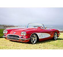 1958 Corvette 'Seaside' Roadster Photographic Print