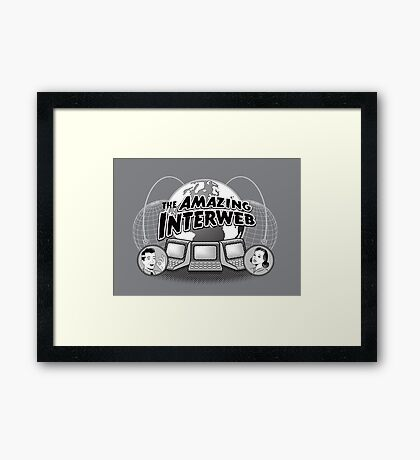 The Amazing Interweb Framed Print