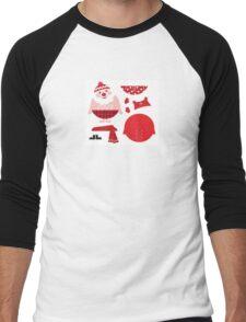 Cute happy Santa, christmas costume parts Men's Baseball ¾ T-Shirt