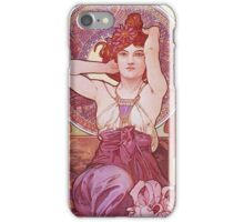Alphonse Mucha - Amethysteamethyst iPhone Case/Skin