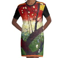 Van Gogh - Flowering Plum Orchard, after Hiroshige Graphic T-Shirt Dress