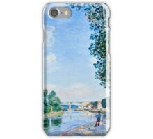 Alfred Sisley - Saint Mammes  June Sunshine (1892)  iPhone Case/Skin