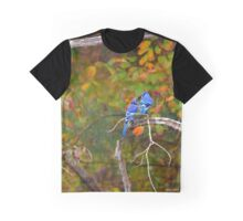 Cyanocitta Cristata - North American Blue Jay Couple Feeding Each Other | Middle Island, New York Graphic T-Shirt