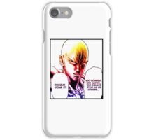 one_punch_man_rules iPhone Case/Skin