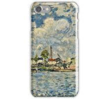 Alfred Sisley - La Seine au point du jour (1877)  iPhone Case/Skin