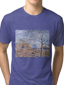 Alfred Sisley - Banks of the Loing - Autumn Effect, 1881 Tri-blend T-Shirt