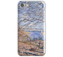 Alfred Sisley - Banks of the Loing - Autumn Effect, 1881 iPhone Case/Skin
