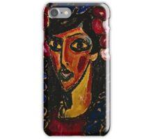 Alexei Jawlensky - The Blue Mantilla 1913  iPhone Case/Skin
