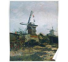 Vincent Van Gogh - Le Moulin De Blute Fin, 1886 Poster