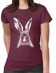 HARE WHITE T SHIRT Womens Fitted T-Shirt