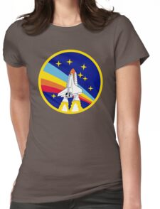 Rainbow Rocket Womens Fitted T-Shirt