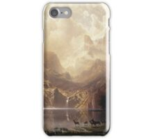 Albert Bierstadt - Among The Sierra Nevada California iPhone Case/Skin