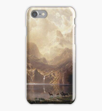 Albert Bierstadt - Among The Sierra Nevada California iPhone Case/Skin
