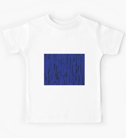 Line Art - The Bricks, black and dark blue Kids Tee